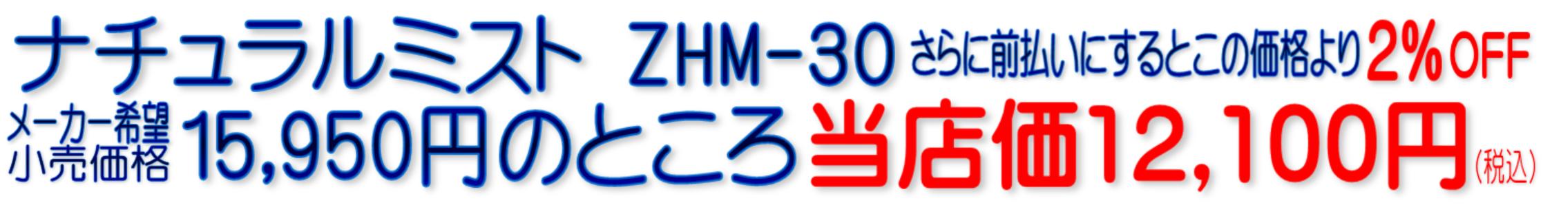 ナチュラルミスト ZHM-30